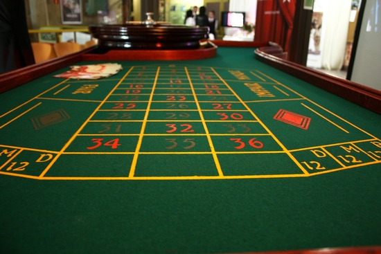 Gaming table in casino