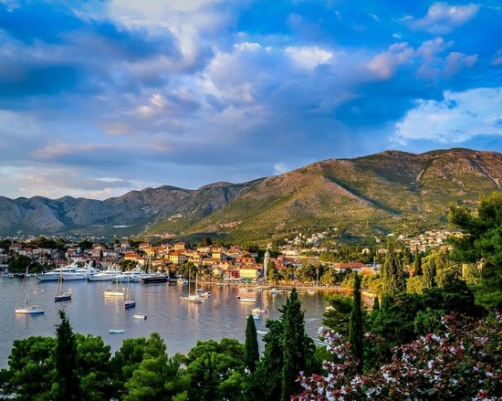The seaside town of Cavtat in Croatia