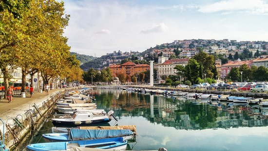 The city of Rijeka's boat harbour, in Istria