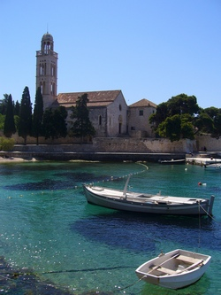 An island town in Croatia, with clear seas