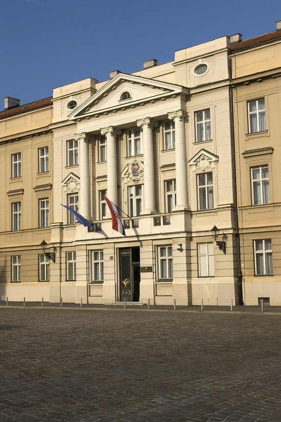 Croatia's Parliament building in Zagreb