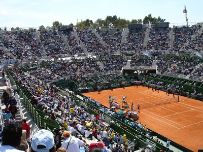 Crowds at Davis Cup game