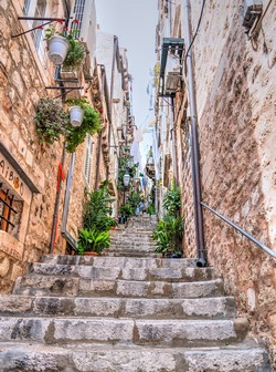 An alleyway in Dubrovnik