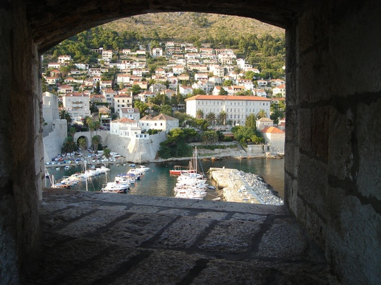A window view of Dubrovnik city