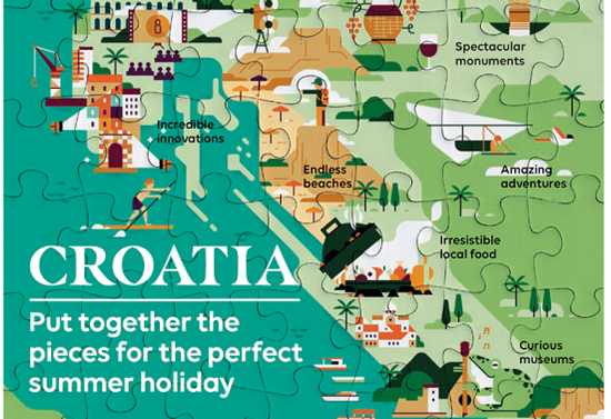 Easy Jet promotion of Croatia