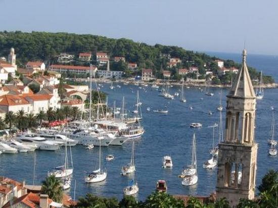 Town harbour on Hvar island