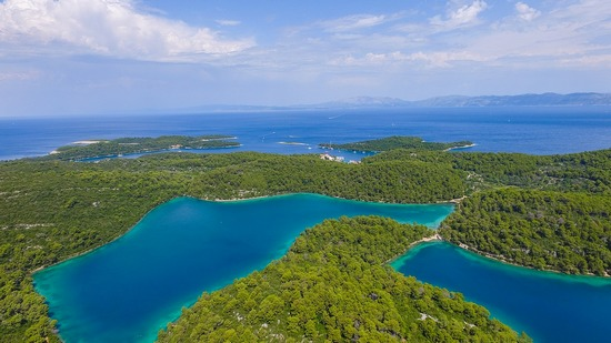 Island of Mljet's woods and waterways