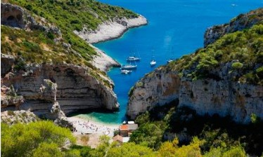 Vis Beach on Island of Vis, Croatia
