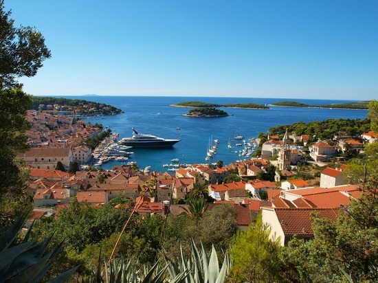 Small islands near Hvar island and town