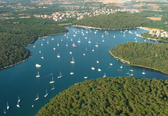 Istrian towns from air