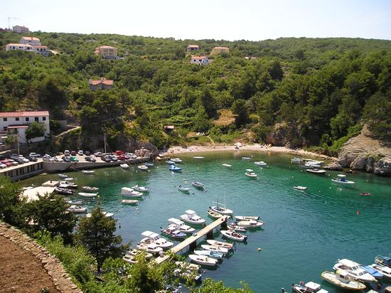 Small cove at Krk Island