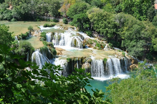 Waterfalls at Krka National Park, seen from above
