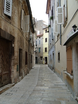 An old alley way in Poreč