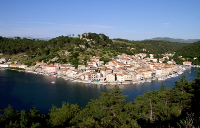 Town of Novigrad, near Zadar, in Croatia