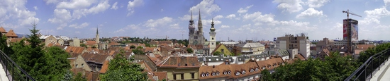 Panorama of Zagreb city