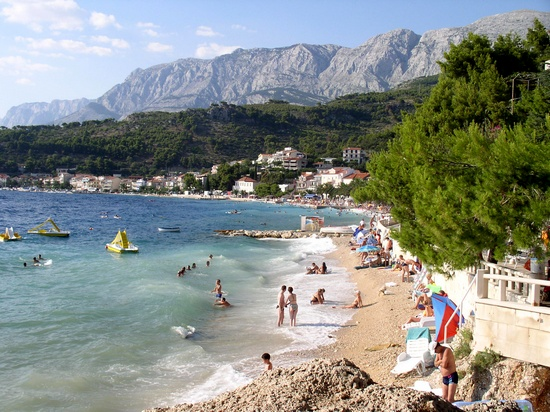 Podgora beach, in Makarska