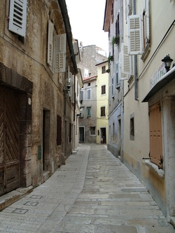 A narrow lane in town of Poreč
