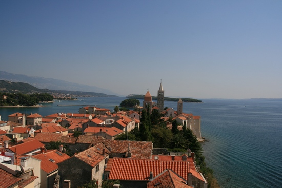 Rab island in Kvarner Bay