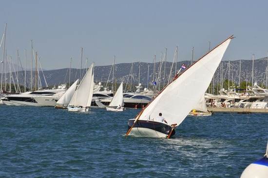 Sailing yachts at marina in Croatia