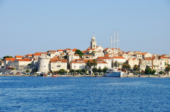 The town of Korcula, on Korcula island