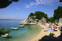 Small beach in Brela, Croatia